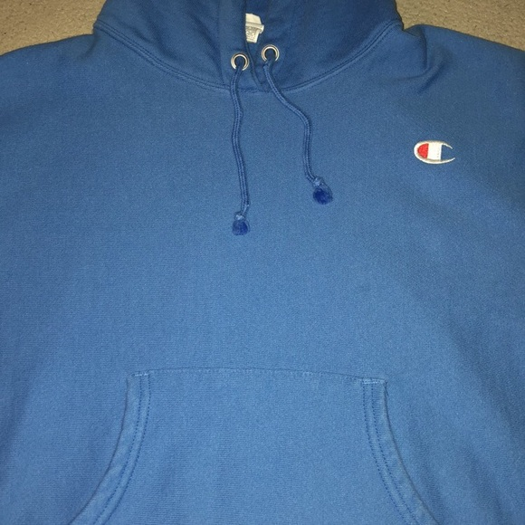 6e25fbd37d1e Champion Tops - Champion Reverse Weave Groove Blue Hoodie